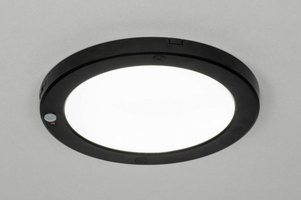 Plafondlamp 73351: modern, kunststof, zwart, mat #0