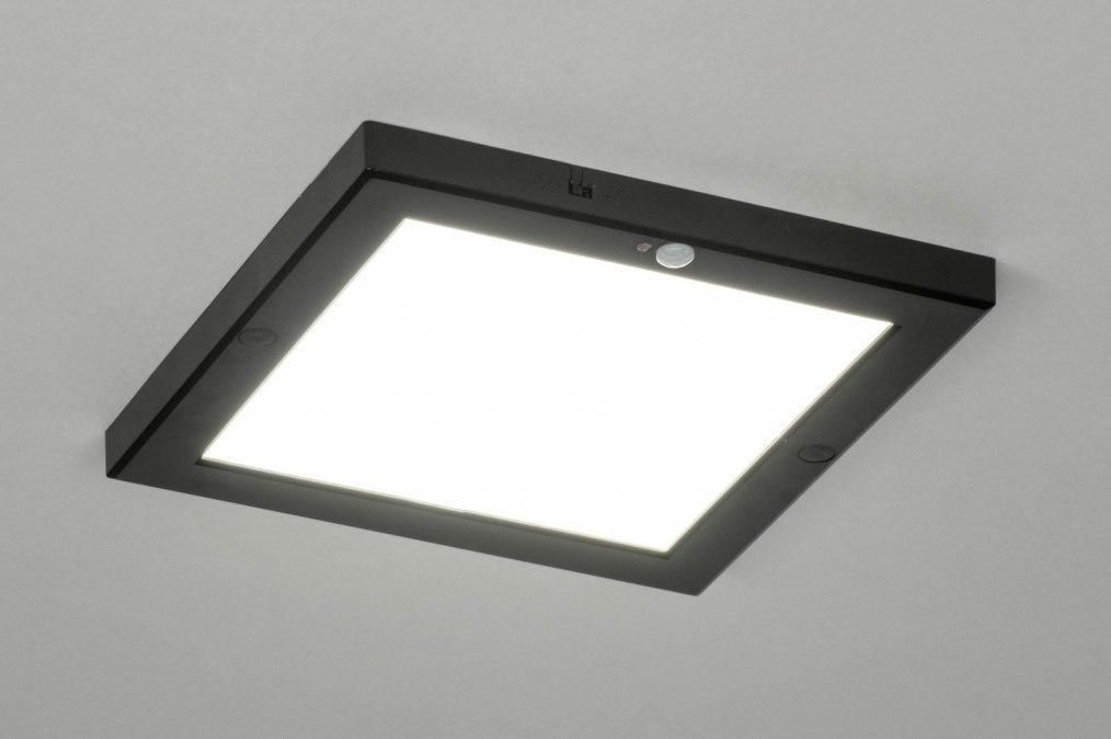 Plafondlamp 73353: modern, kunststof, zwart, mat #0