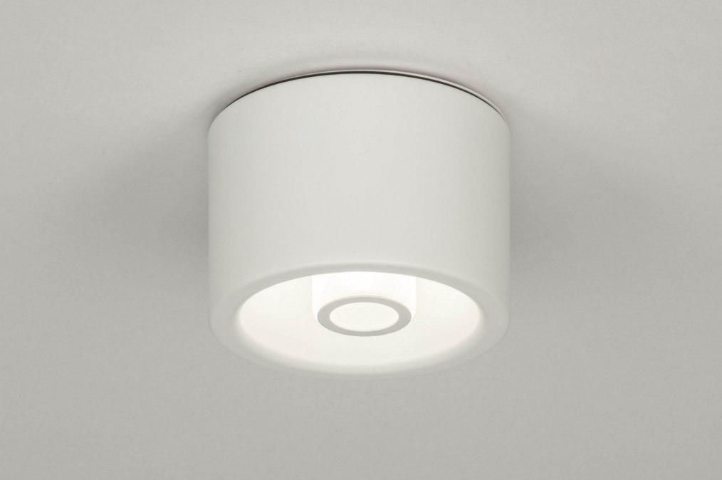 Plafondlamp 73354: design, modern, metaal, wit #0