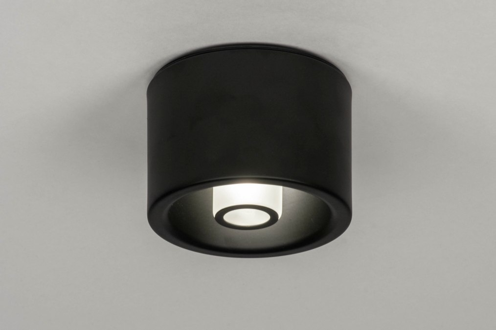 Ceiling lamp 73355: designer, modern, metal, black #0