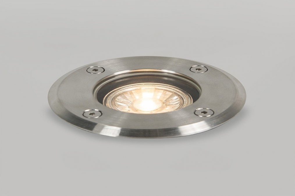 Buitenlamp 73370: modern, staal rvs, rond #0