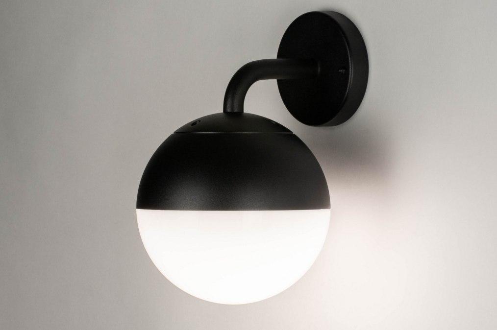 Wandlamp 73374: modern, aluminium, kunststof, zwart #0
