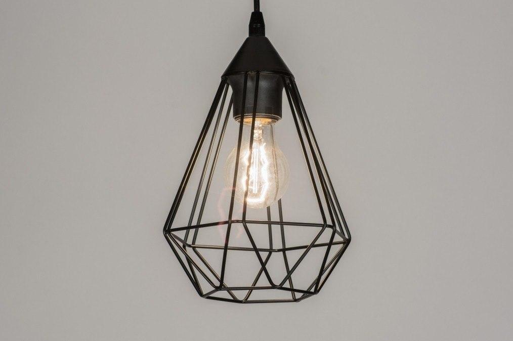 Hanglamp 73407: modern, metaal, zwart, mat #0