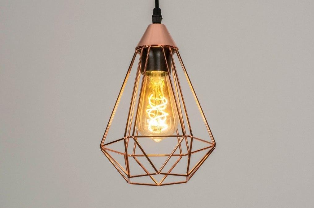Hanglamp 73408: modern, metaal, koper, roodkoper #0