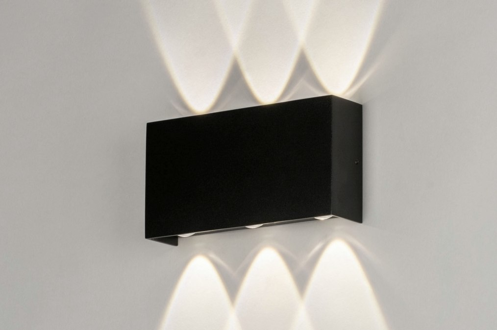 Wall lamp 73420: modern, aluminium, metal, black #0