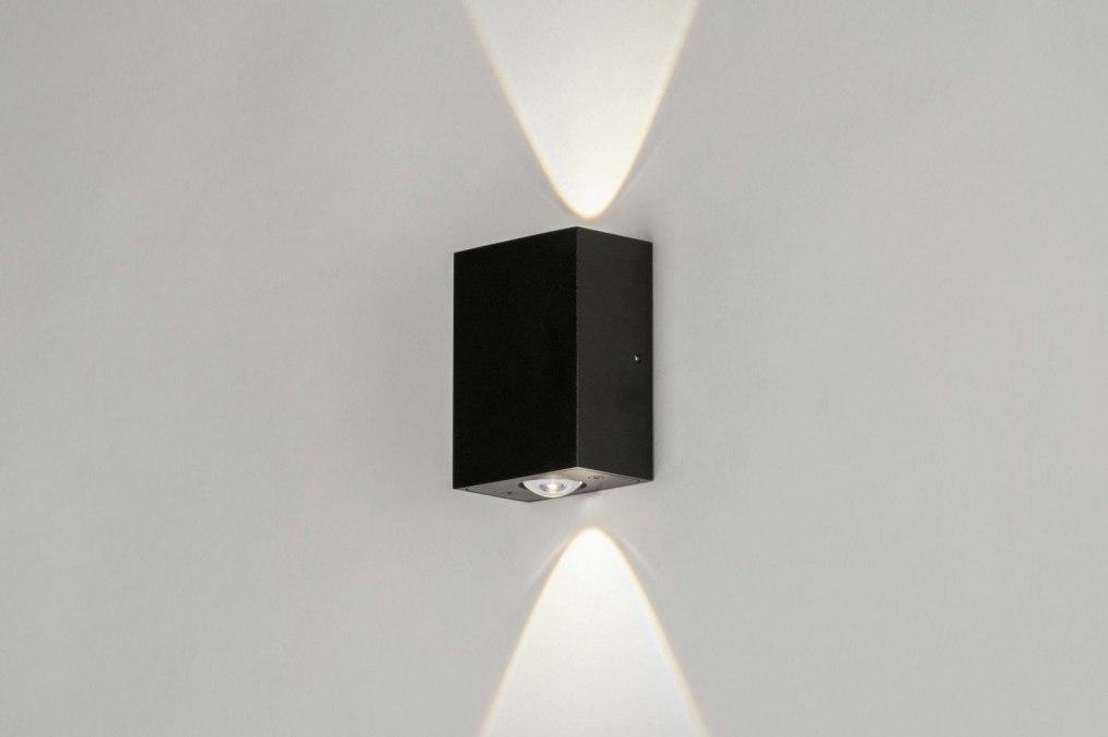 Wandlamp 73421: modern, aluminium, metaal, zwart #0