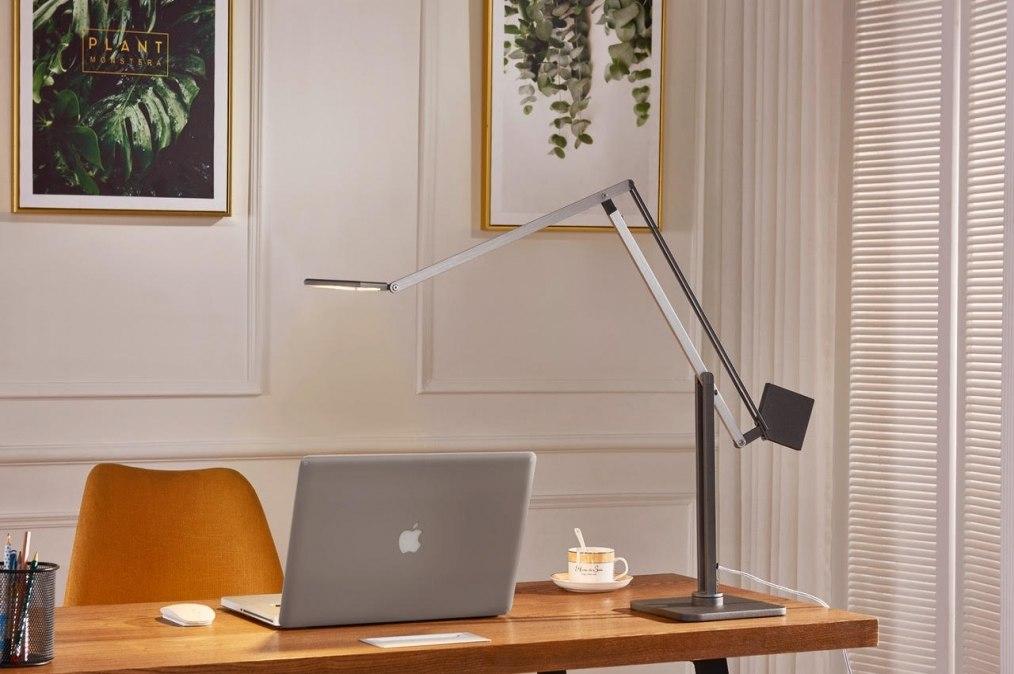 tischleuchte 73428 design modern aluminium metall. Black Bedroom Furniture Sets. Home Design Ideas