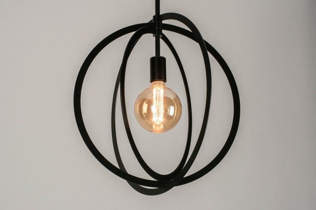 Pendant light 73432: modern, metal, black, matt #0