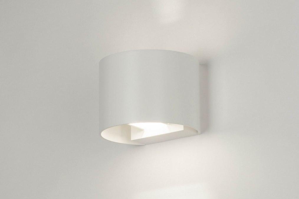 Wandlamp 73443: modern, aluminium, metaal, wit #0