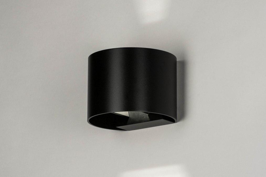Wandlamp 73444: modern, aluminium, metaal, zwart #0