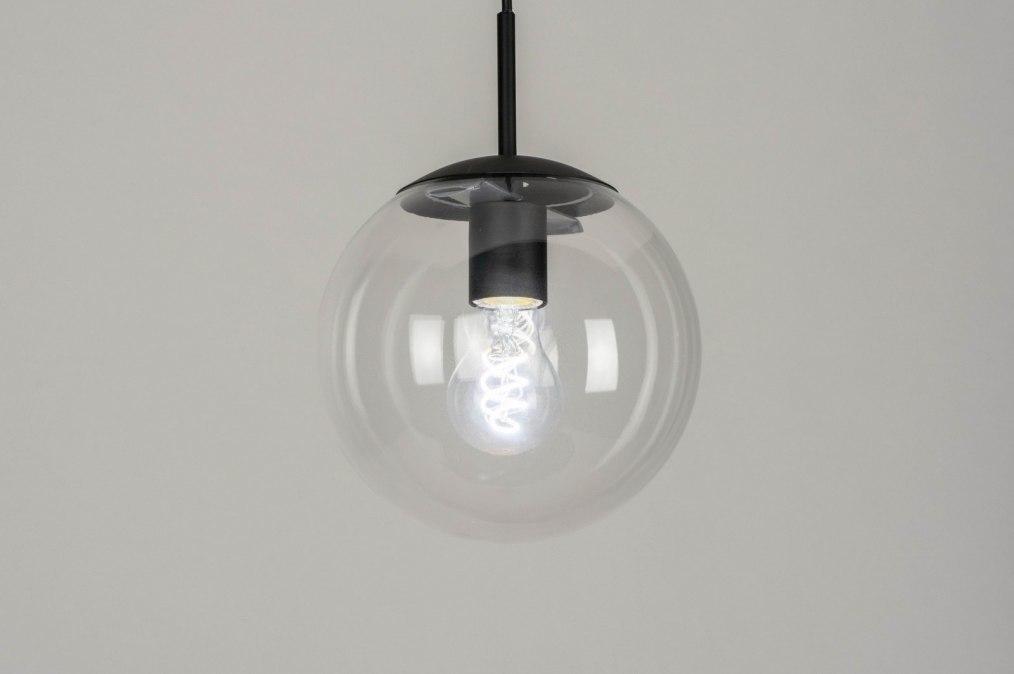 Hanglamp 73457: modern, retro, glas, helder glas #0