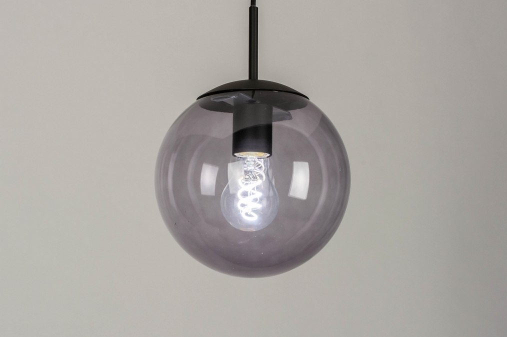 Hanglamp 73458: modern, retro, glas, metaal #0