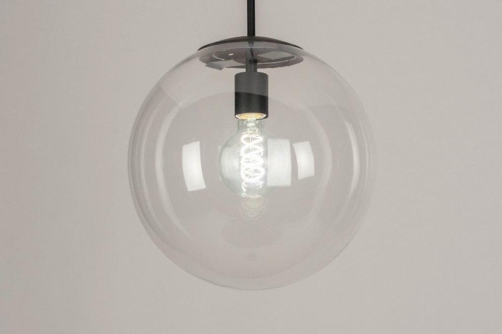 Hanglamp 73459: modern, retro, glas, helder glas #0