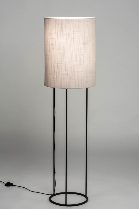 Vloerlamp 73471: modern, stof, metaal, zwart #0