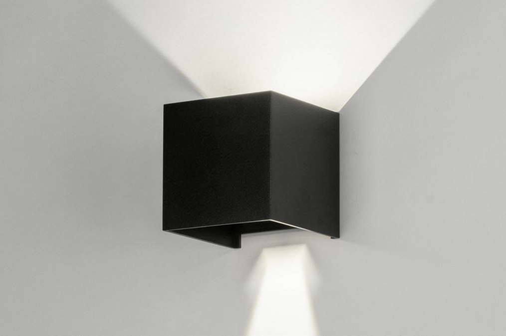 Wall lamp 73475: modern, aluminium, metal, black #0