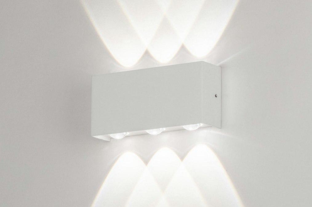 Wandlamp 73476: modern, aluminium, metaal, wit #0