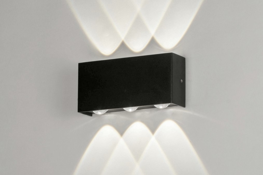 Wall lamp 73477: modern, aluminium, metal, black #0