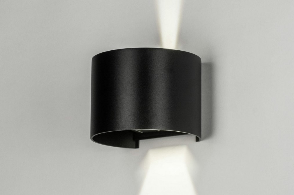 Wall lamp 73479: modern, aluminium, metal, black #0
