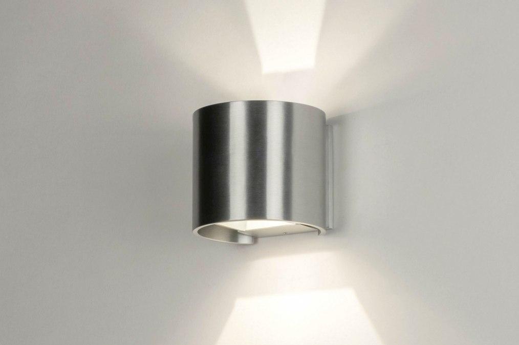 Wall lamp 73487: designer, modern, aluminium, sanded aluminium #0