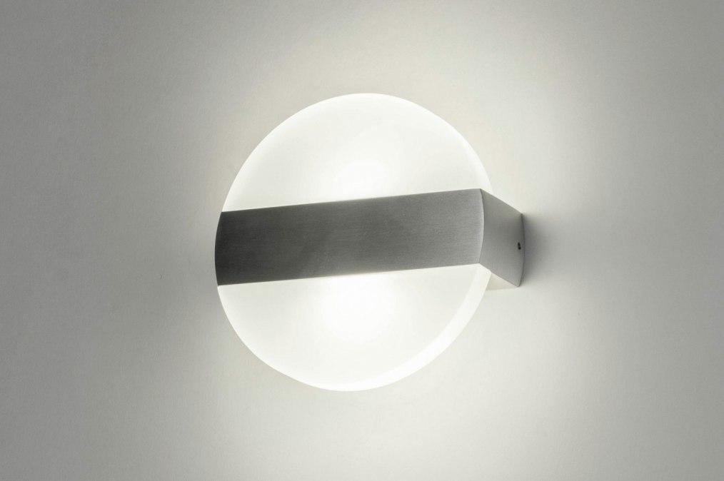 Wandlamp 73488: design, modern, aluminium, geschuurd aluminium #0