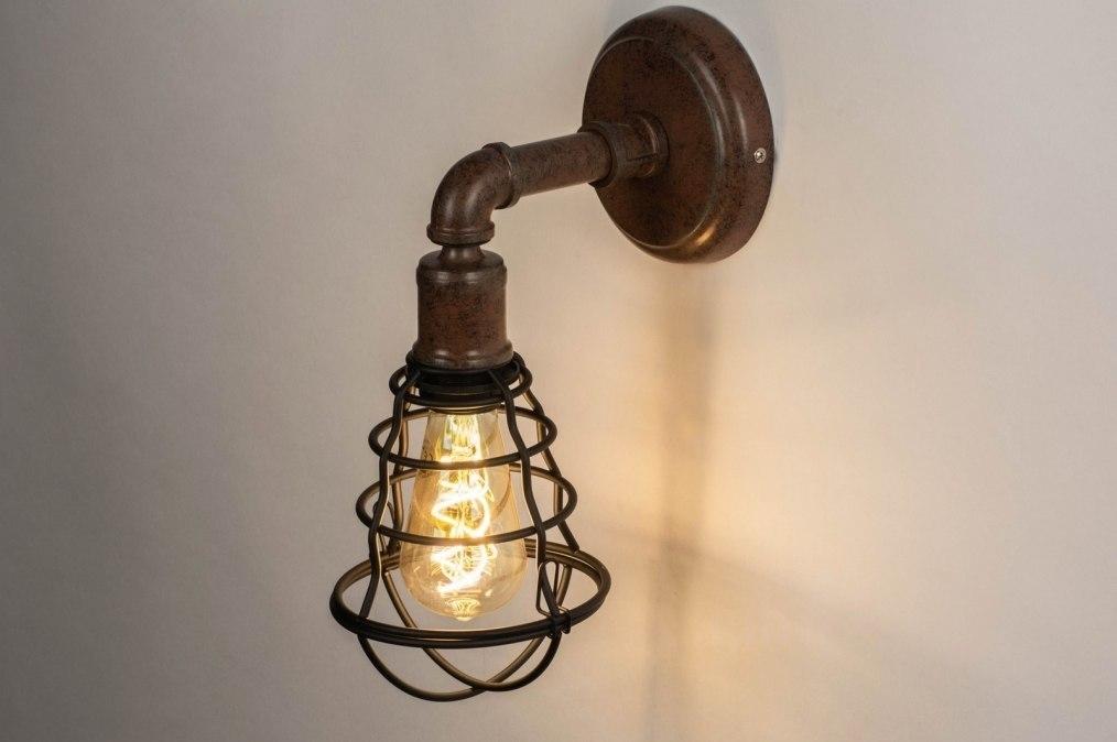 Wandlamp 73491: industrie, look, landelijk, rustiek #0