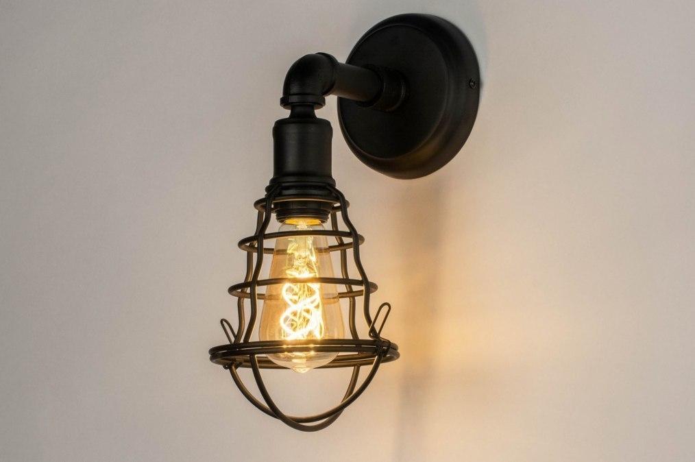 Wandlamp 73492: industrie, look, modern, stoer #0