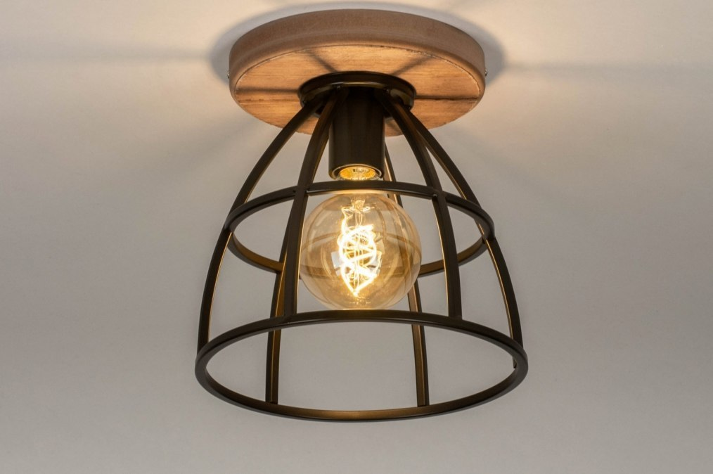 Ceiling lamp 73506: industrial look, rustic, modern, wood #0
