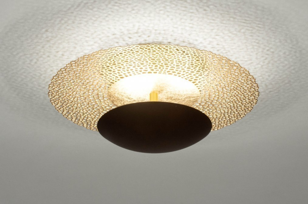 Ceiling lamp 73525: classical, contemporary classical, metal, gold #0