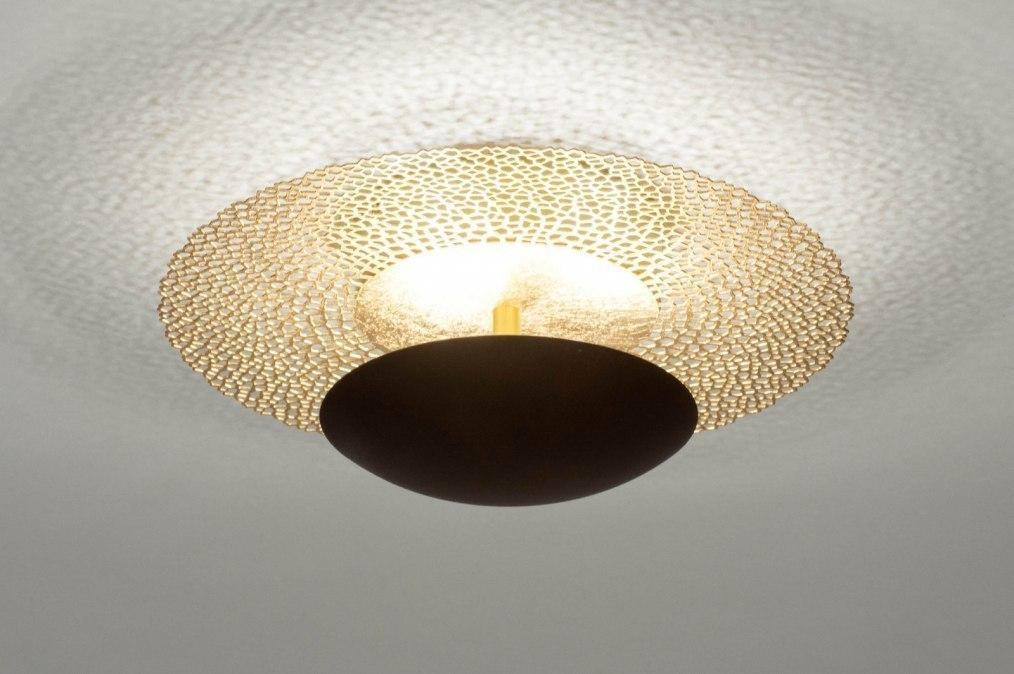 Plafondlamp 73525: klassiek, eigentijds klassiek, metaal, goud #0