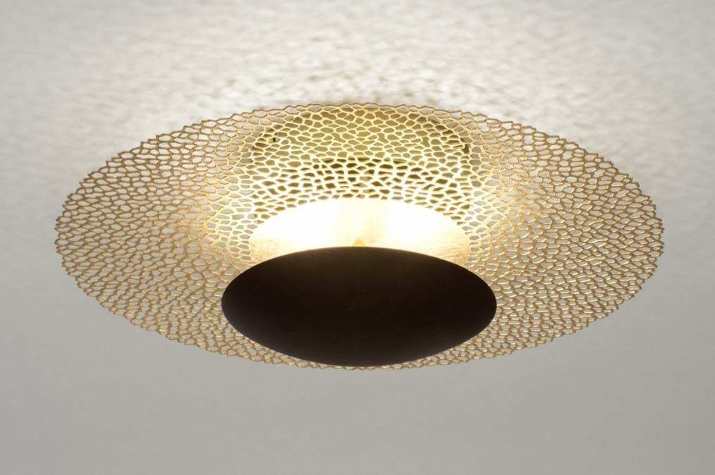 Plafondlamp 73526: klassiek, eigentijds klassiek, metaal, goud #0