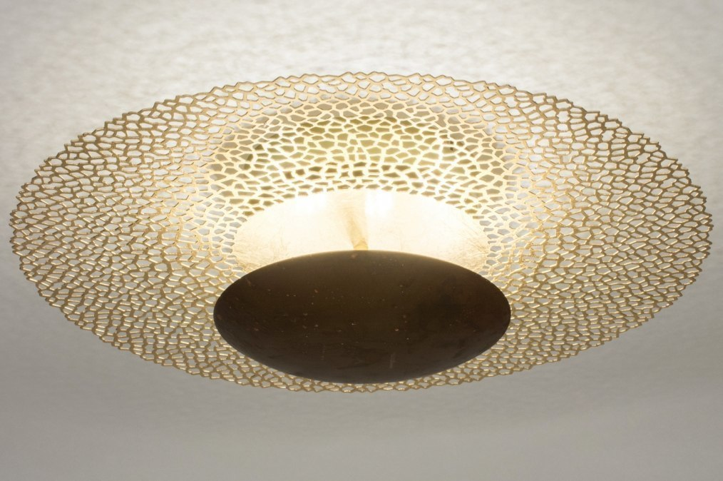 Ceiling lamp 73527: classical, contemporary classical, metal, gold #0