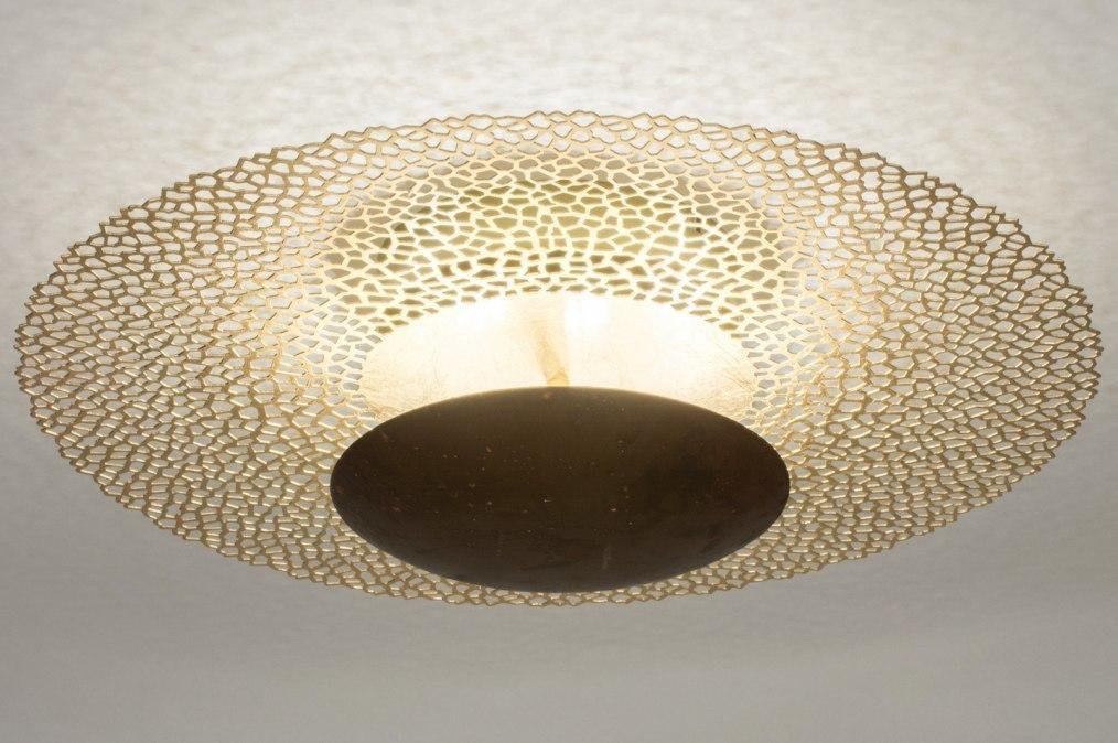 Plafondlamp 73527: klassiek, eigentijds klassiek, metaal, goud #0
