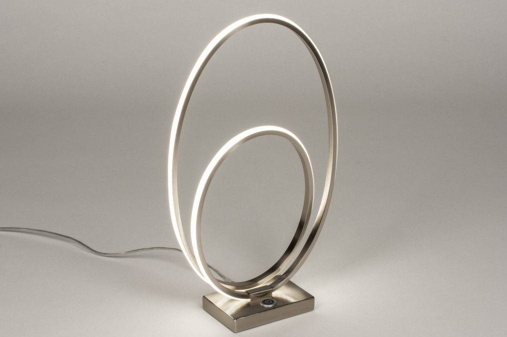 Table lamp 73532: designer, modern, stainless steel, metal #0