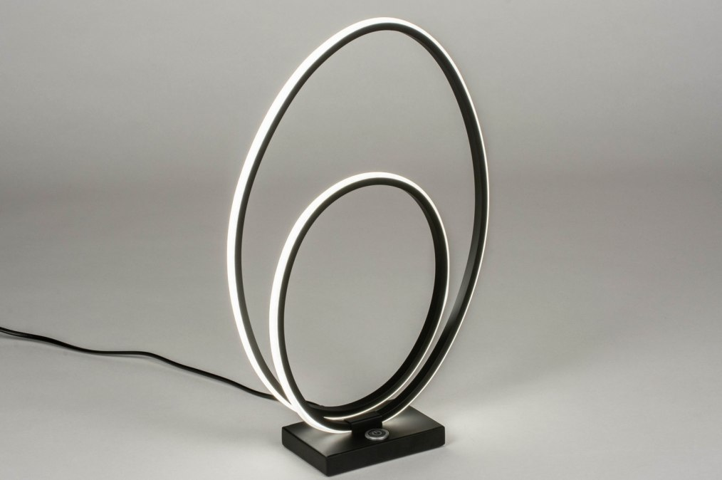 Lampe de chevet 73533: design, moderne, acier, noir #0