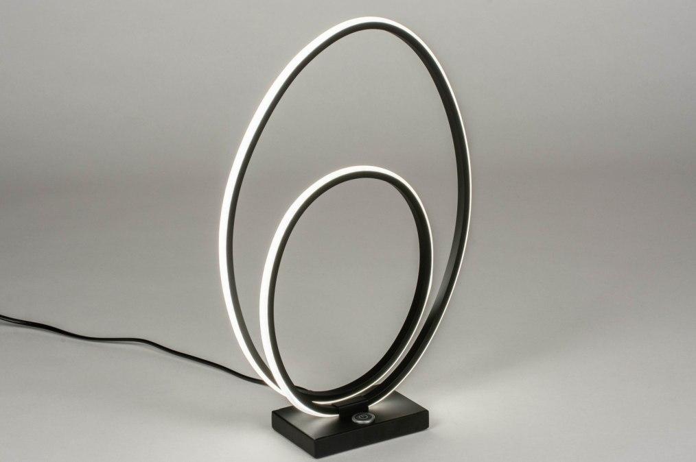 Lamapara de mesa 73533: Diseno, Moderno, Metal, Negro #0