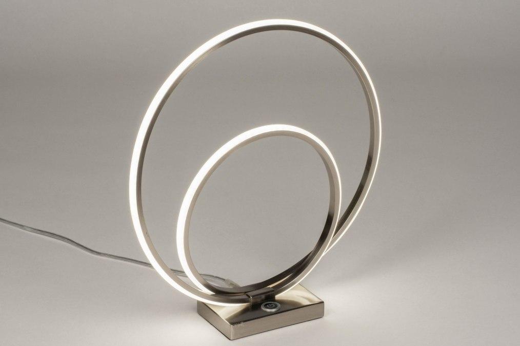 Tischleuchte 73534: Design, modern, Edelstahl, Metall #0