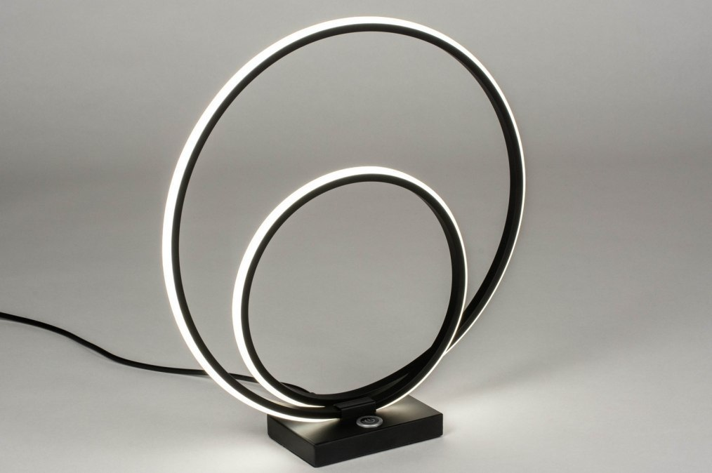 Table lamp 73535: designer, modern, metal, black #0