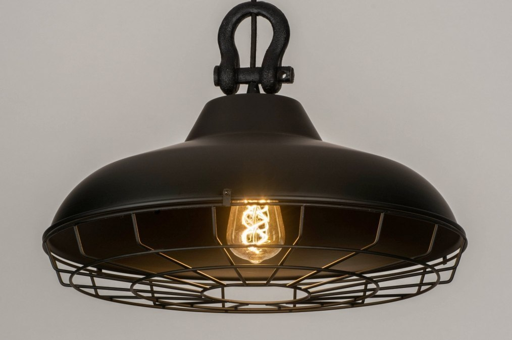 Pendant light 73538: industrial look, modern, metal, black #0