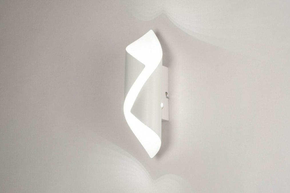 Wandlamp 73540: modern, metaal, wit, mat #0
