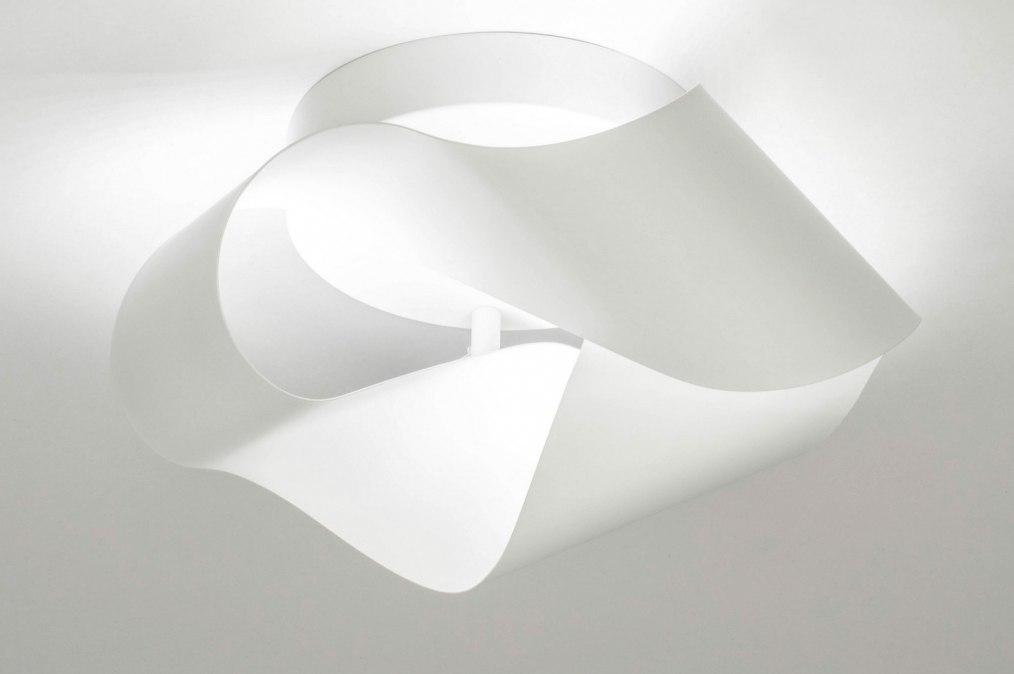 Plafondlamp 73542: modern, retro, metaal, wit #0