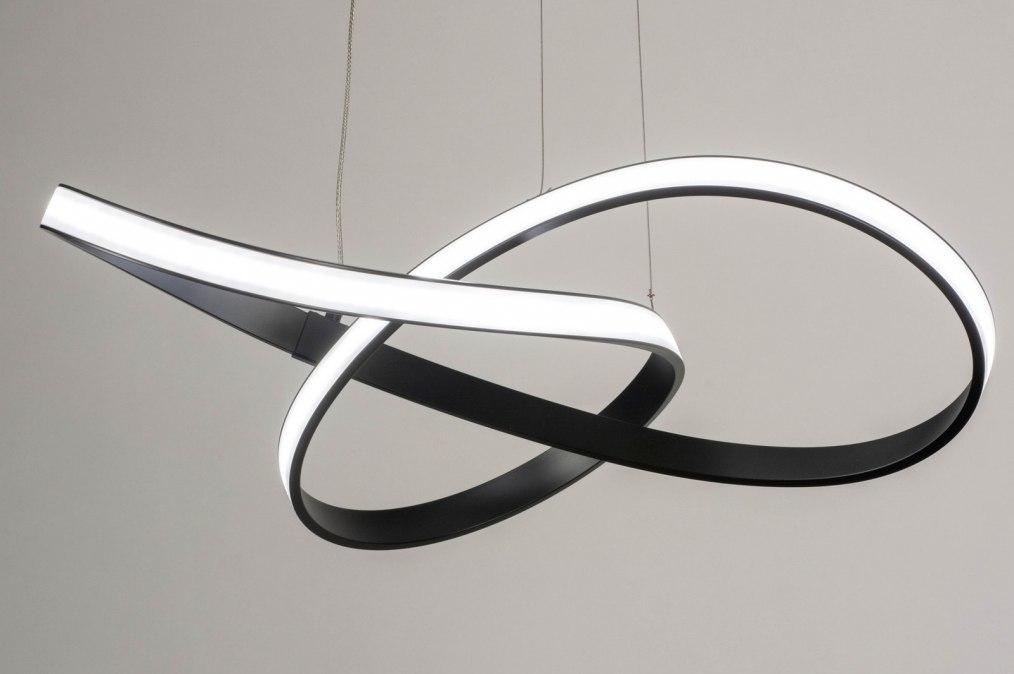 Hanglamp 73557: modern, aluminium, metaal, zwart #0
