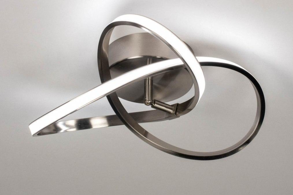 Ceiling lamp 73561: modern, stainless steel, metal, steel gray #0