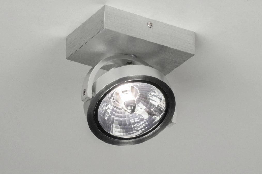 Foco 73572: Moderno, Aluminio, Aluminio cepillado, Aluminio #0