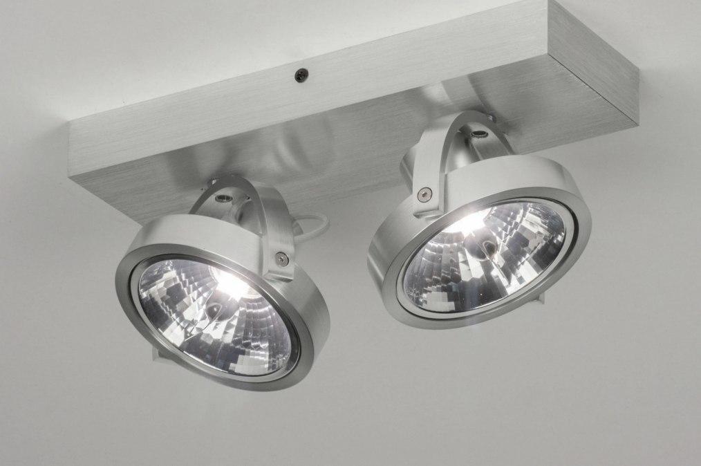 Foco 73573: Moderno, Aluminio, Aluminio cepillado, Aluminio #0
