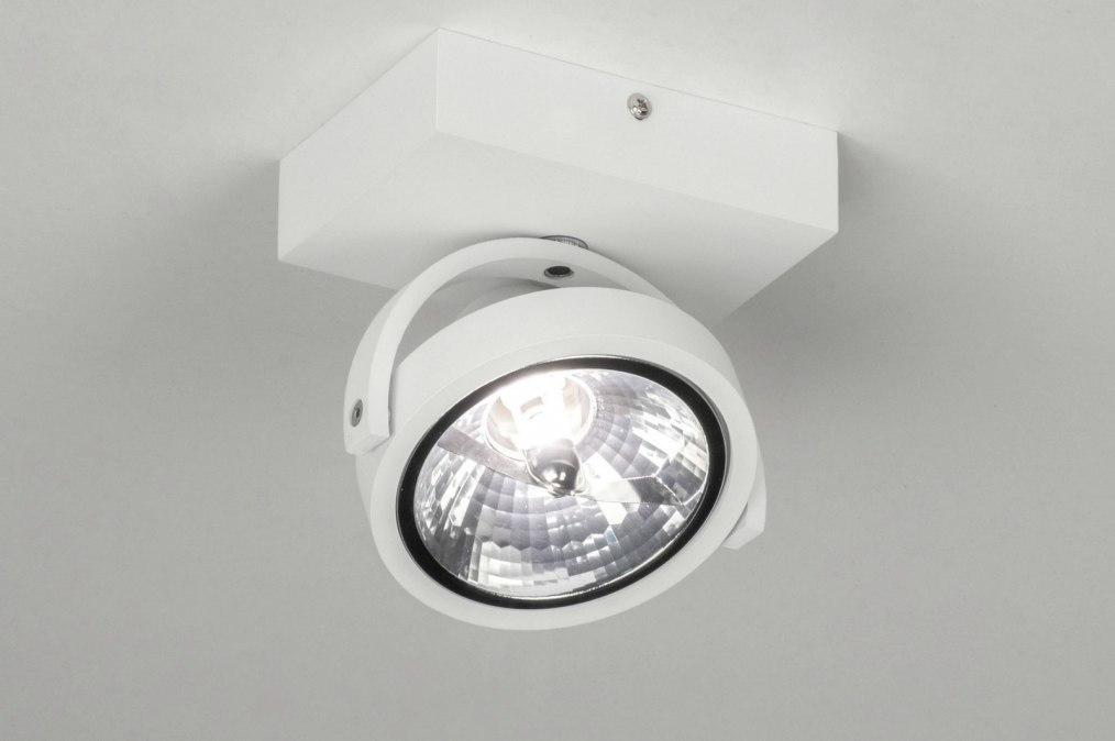 Spot 73575: moderne, aluminium, blanc, mat #0