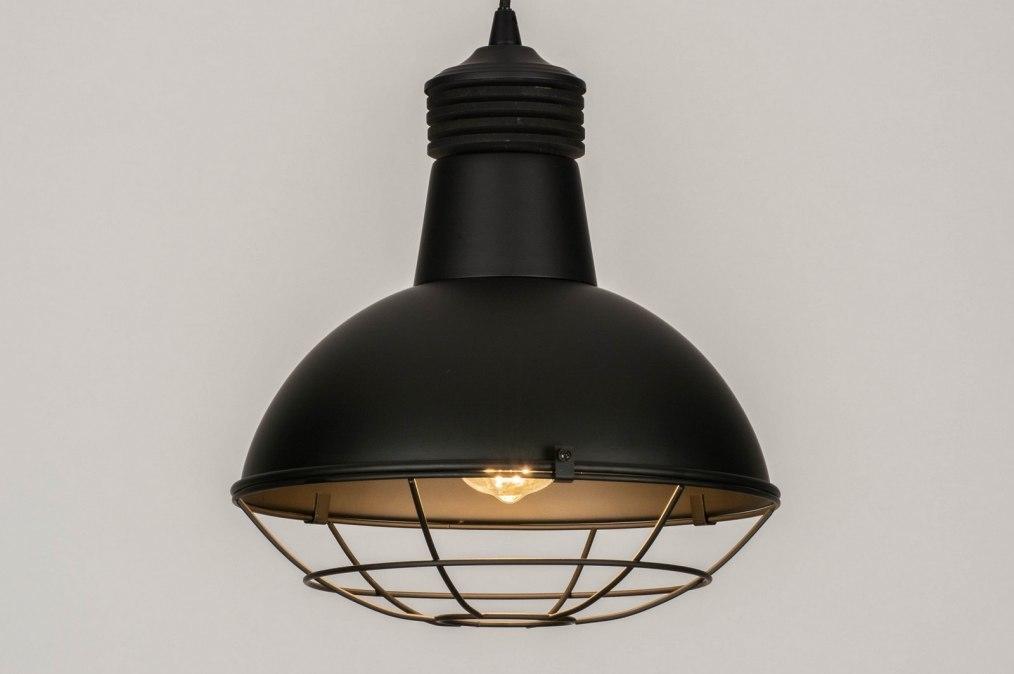 Pendant light 73592: industrial look, modern, metal, black #0