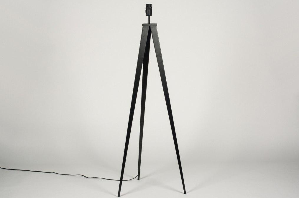 Vloerlamp 73596: design, modern, metaal, zwart #0