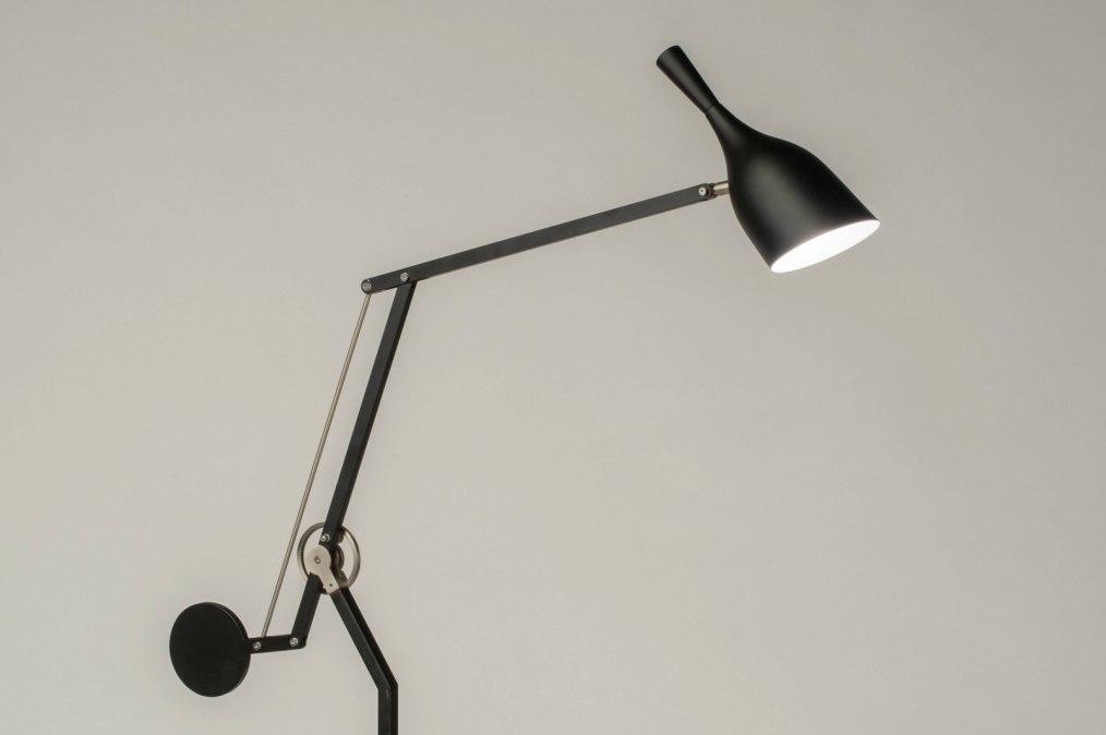 Lampadaire 73598: look industriel, design, moderne, acier poli #0