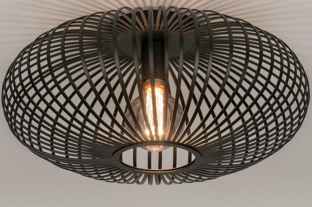 Plafondlamp 73608: industrie, look, landelijk, rustiek #0
