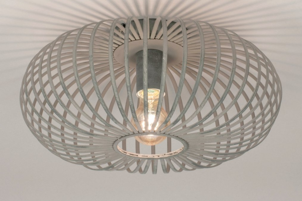 Plafondlamp 73611: industrie, look, landelijk, rustiek #0